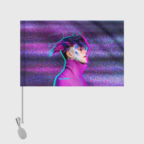 Флаг для автомобиля Glitch Peep Фото 01
