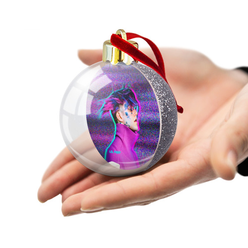 Ёлочный шар с блестками  Фото 03, Glitch Peep