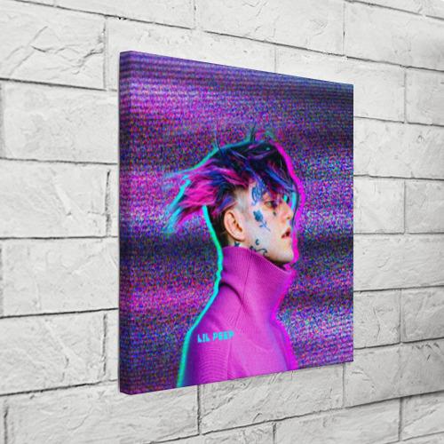 Холст квадратный Glitch Peep Фото 01