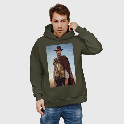 Мужское худи Oversize хлопок Clint  Eastwood Фото 01