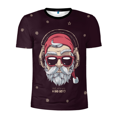 Мужская футболка 3D спортивная Who was a bad boy?