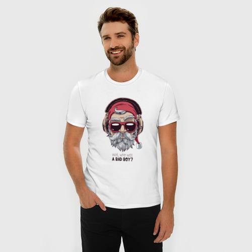 Мужская футболка премиум  Фото 03, Who was a bad boy?