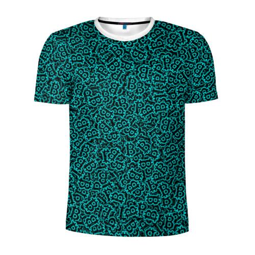 Мужская футболка 3D спортивная  Фото 01, Биткоин
