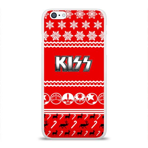 Чехол для Apple iPhone 6Plus/6SPlus силиконовый глянцевый  Фото 01, Праздничный Kiss