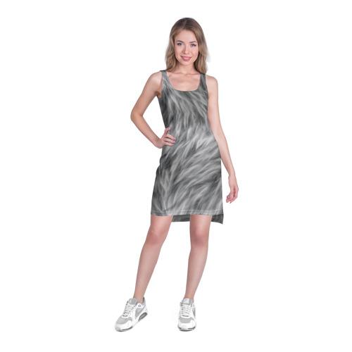 Платье-майка 3D  Фото 03, Шкура волка