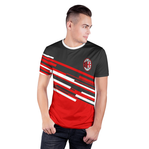 Мужская футболка 3D спортивная  Фото 03, AC MILAN