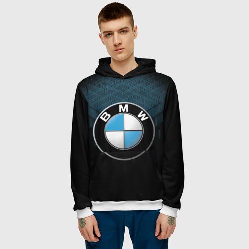 Мужская толстовка 3D  Фото 03, BMW 2018 Blue Line