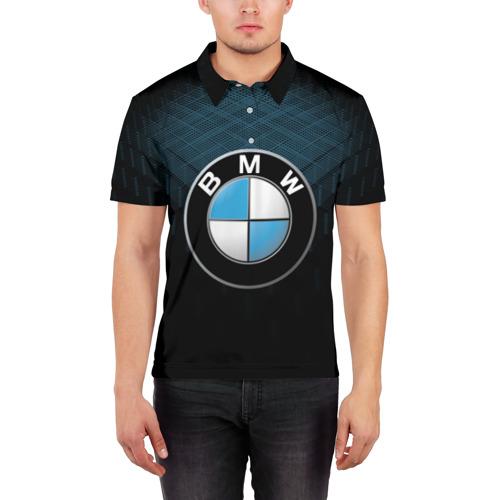 Мужская рубашка поло 3D  Фото 03, BMW 2018 Blue Line