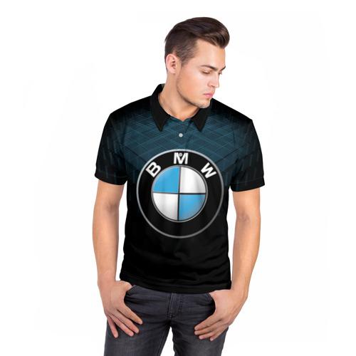 Мужская рубашка поло 3D  Фото 05, BMW 2018 Blue Line