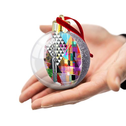 Ёлочный шар с блестками  Фото 03, abstraction&geometry