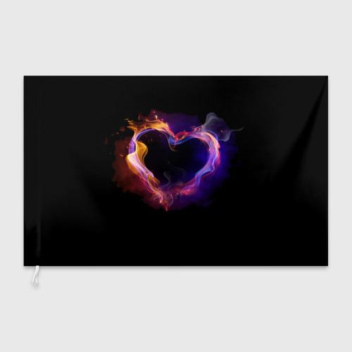 Флаг 3D  Фото 03, Огненное сердце