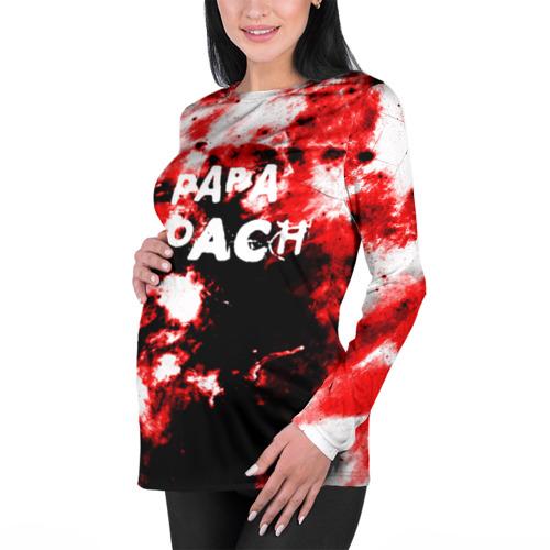 Женский лонгслив 3D для беременных  Фото 01, PAPA ROACH BLOOD ROCK STYLE