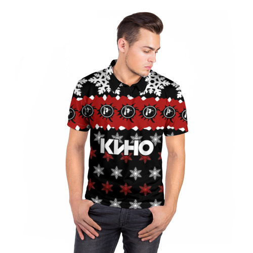 Мужская рубашка поло 3D  Фото 05, Группа Кино, праздничный