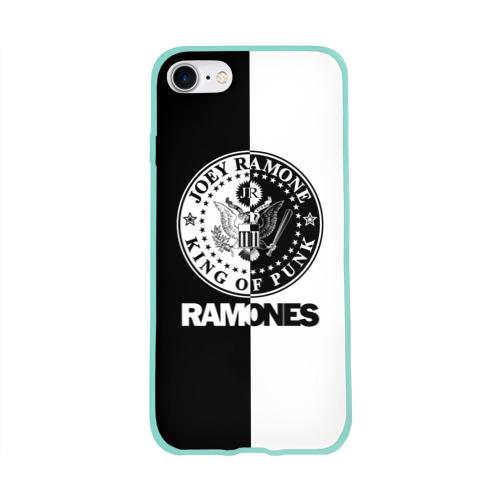Чехол для Apple iPhone 8 силиконовый глянцевый Ramones Фото 01