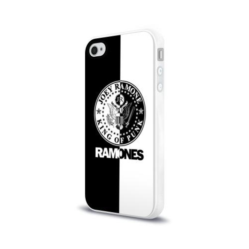Чехол для Apple iPhone 4/4S силиконовый глянцевый Ramones Фото 01