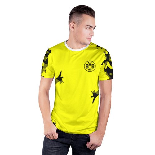 Мужская футболка 3D спортивная  Фото 03, FC Borussia 2018 Original