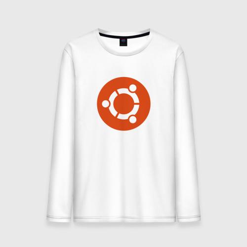 Мужской лонгслив хлопок  Фото 01, Ubuntu OS