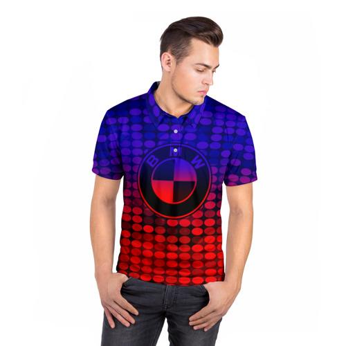 Мужская рубашка поло 3D  Фото 05, BMW NEON