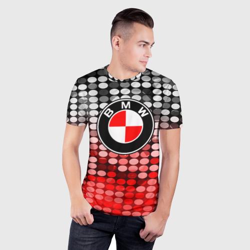 Мужская футболка 3D спортивная  Фото 03, BMW TEXTURE DOT COLLECTION