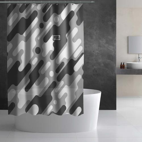 Штора 3D для ванной PUBG Фото 01