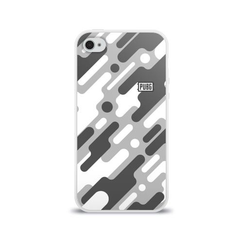 Чехол для Apple iPhone 4/4S силиконовый глянцевый PUBG Фото 01