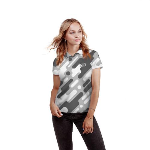 Женская рубашка поло 3D PUBG Фото 01