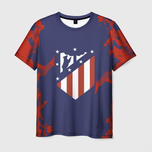 Мужская футболка 3D  Фото 01, Atletico Madrid 2018 Original