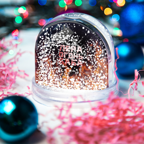 Водяной шар со снегом  Фото 04, Лера огонь баба