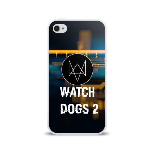 Чехол для Apple iPhone 4/4S силиконовый глянцевый  Фото 01, Watch Dogs 2