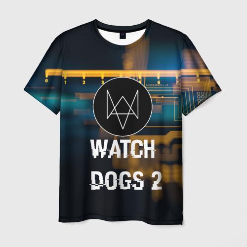 Мужская футболка 3D Watch Dogs 2