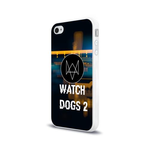 Чехол для Apple iPhone 4/4S силиконовый глянцевый  Фото 03, Watch Dogs 2