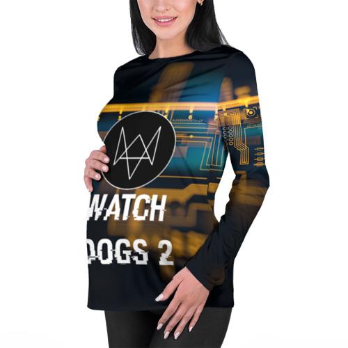 Женский лонгслив 3D для беременных  Фото 01, Watch Dogs 2