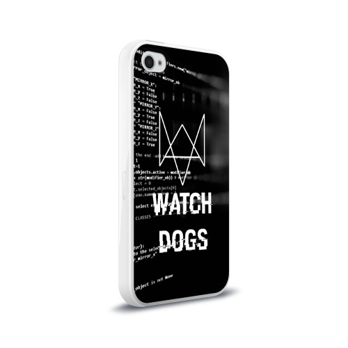 Чехол для Apple iPhone 4/4S силиконовый глянцевый Wath dogs 2 Хакер  Фото 01