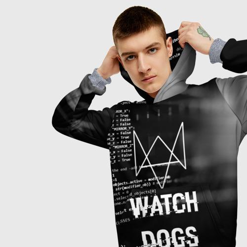 Мужская толстовка 3D Wath dogs 2 Хакер  Фото 01
