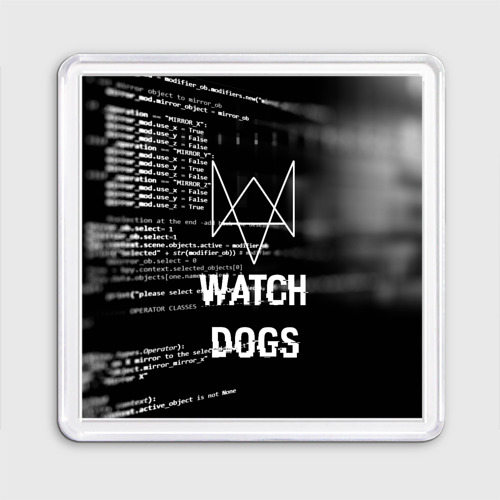 Магнит 55*55 Wath dogs 2 Хакер  Фото 01