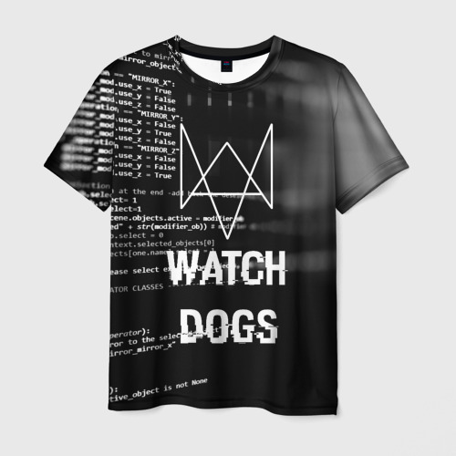 Мужская футболка 3D Wath dogs 2 Хакер