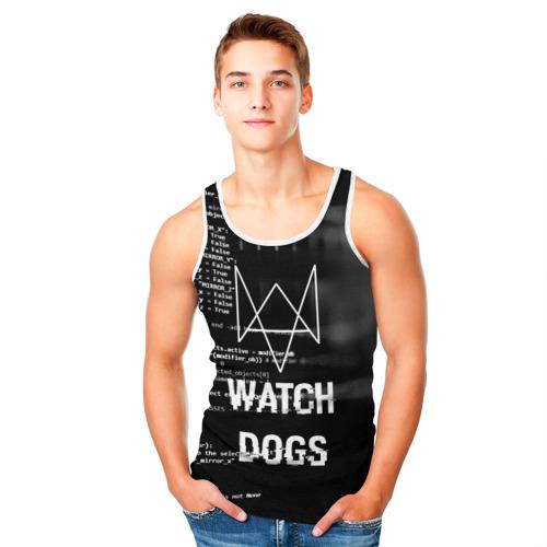 Мужская майка 3D Wath dogs 2 Хакер  Фото 01