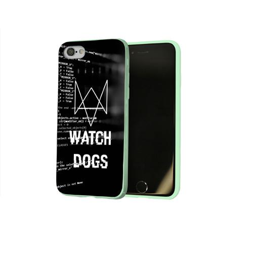 Чехол для Apple iPhone 8 силиконовый глянцевый Wath dogs 2 Хакер  Фото 01