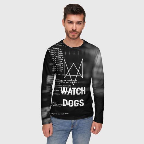 Мужской лонгслив 3D Wath dogs 2 Хакер  Фото 01
