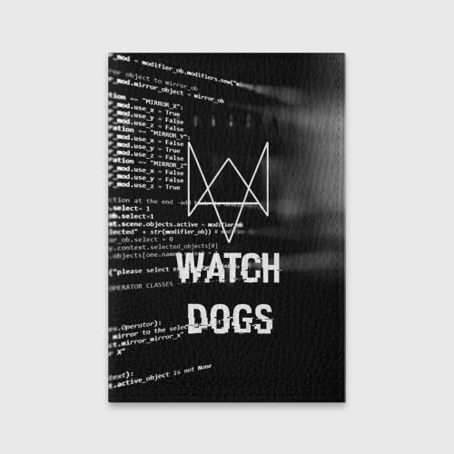 Обложка для паспорта матовая кожа Wath dogs 2 Хакер  Фото 01