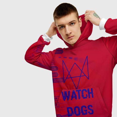 Мужская толстовка 3D Watch Dogs hacker collection Фото 01