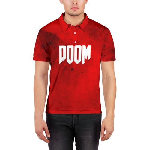 Мужская рубашка поло 3D  Фото 03, DOOM MARS GAME