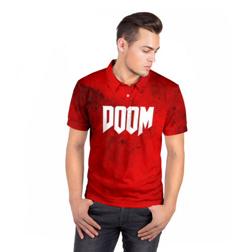 Мужская рубашка поло 3D  Фото 05, DOOM MARS GAME