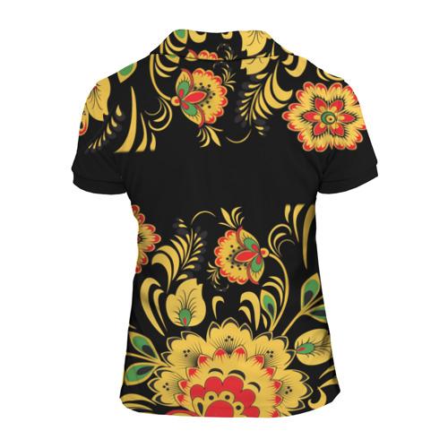 Женская рубашка поло 3D Вася, роспись под хохлому Фото 01