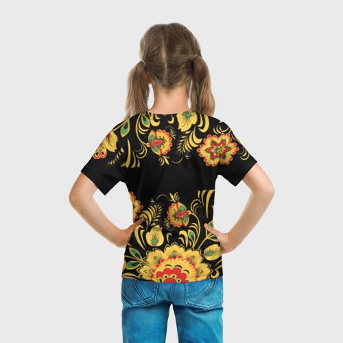 Детская футболка 3D Вася, роспись под хохлому Фото 01