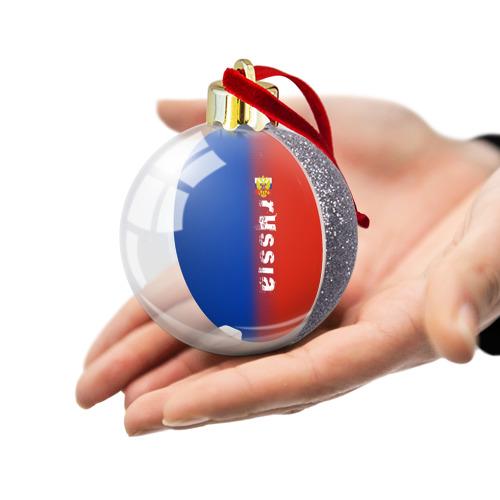Ёлочный шар с блестками  Фото 03, RUSSIA SPORT