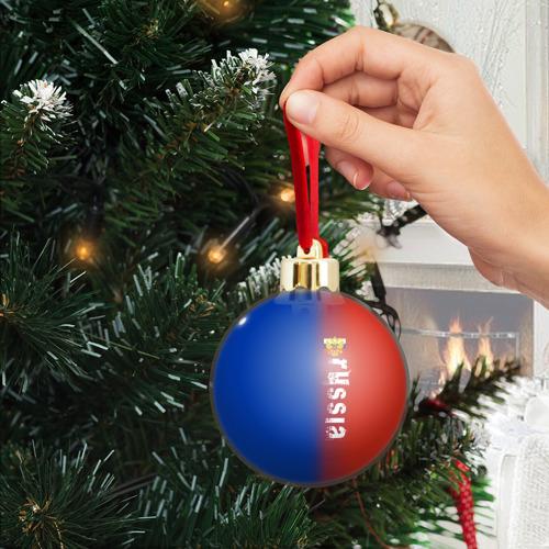 Ёлочный шар с блестками  Фото 04, RUSSIA SPORT