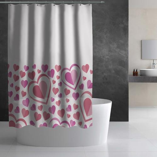 Штора 3D для ванной Нежность и страсть Фото 01