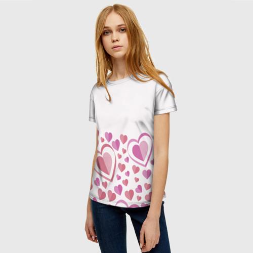 Женская футболка 3D Нежность и страсть Фото 01