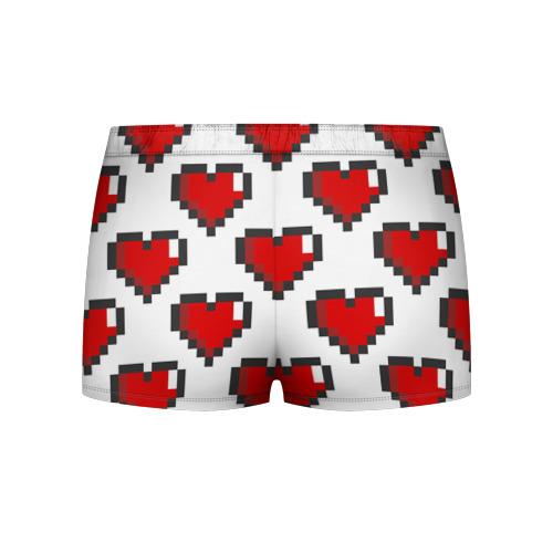 Мужские трусы 3D Пиксельные сердечки Фото 01
